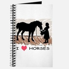 I Love Horses & Girl w/ Color Journal