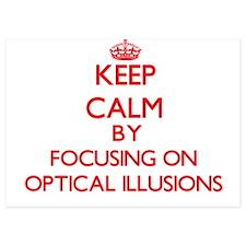 Keep Calm by focusing on Optical Illus Invitations