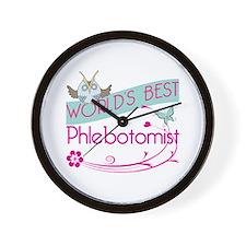 World's Best Phlebotomist Wall Clock