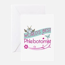 World's Best Phlebotomist Greeting Card