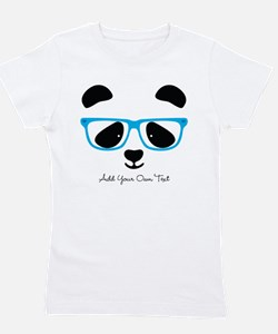 Cute Panda Blue Girl's Tee