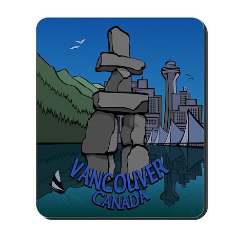 Vancouver Souvenir Mousepad Vancovuer Inukshuk Art