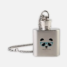 Cute Panda Blue Flask Necklace