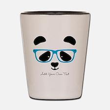Cute Panda Blue Shot Glass