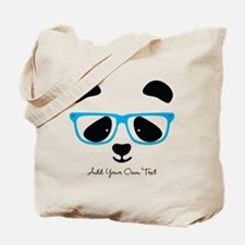 Cute Panda Blue Tote Bag