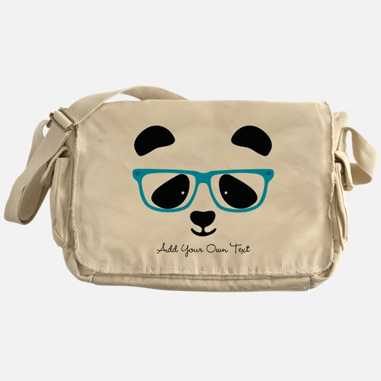 Cute Panda Blue Messenger Bag