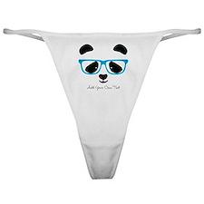 Cute Panda Blue Classic Thong