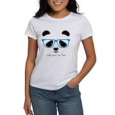 Cute Panda Blue T-Shirt