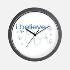 I believe in Butterflies Wall Clock