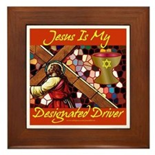 Jesus Designated Driver Framed Tile