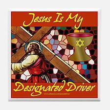 Jesus Designated Driver Tile Coaster