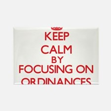 Keep Calm by focusing on Ordinances Magnets