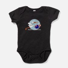 stork baby austr white.psd Baby Bodysuit