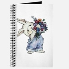 Bunny with Flowers Journal