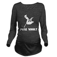 Pole Vault Long Sleeve Maternity T-Shirt