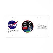 Hubble @ 25!! Aluminum License Plate