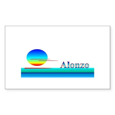 Alonzo Rectangle Sticker