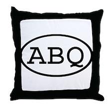 ABQ Oval Throw Pillow
