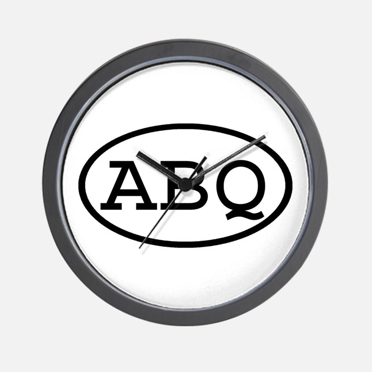 ABQ Oval Wall Clock
