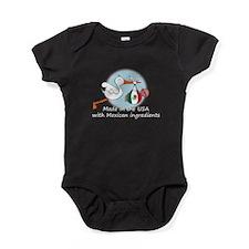 stork baby mex2 white.psd Baby Bodysuit