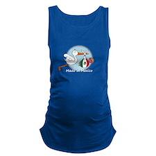 stork baby mex white.psd Maternity Tank Top