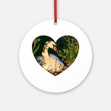Swan Love Ornament (Round)