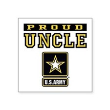 """Proud Uncle U.S. Army Square Sticker 3"""" x 3"""""""