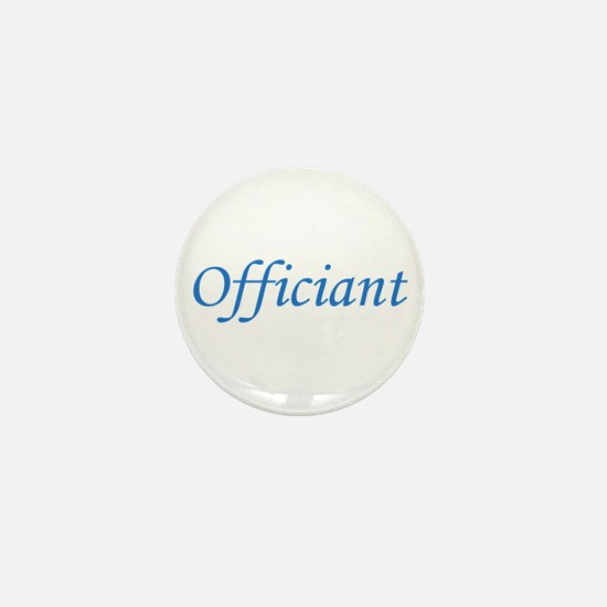 Officiant - Blue Mini Button