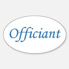 Officiant - Blue Oval Decal