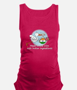 stork baby india2 white.psd Maternity Tank Top