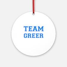 TEAM GREER Ornament (Round)