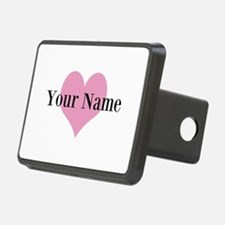 Pink heart and personalized name Hitch Cover