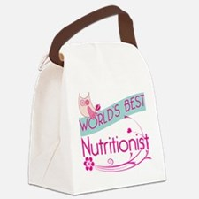 World's Best Nutritionist Canvas Lunch Bag