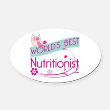 World's Best Nutritionist Oval Car Magnet
