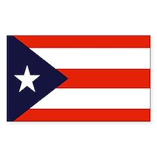 Puerto Rican Flag Sticker (Rect.)