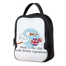 stork baby uk2.psd Neoprene Lunch Bag