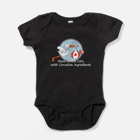 stork baby can2 white.psd Baby Bodysuit