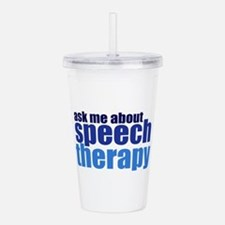 Speech Therapy Acrylic Double-wall Tumbler