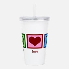 Peace Love Pi Acrylic Double-wall Tumbler