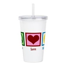Peace Love Happiness Acrylic Double-wall Tumbler