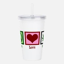 Peace Love Weed Acrylic Double-wall Tumbler