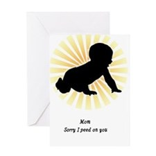 Sorry I Peed On You Card Greeting Cards