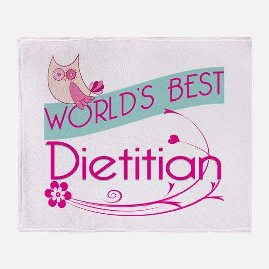 World's Best Dietitian Throw Blanket