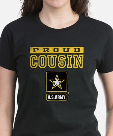 Proud Cousin U.S. Army Women's Dark T-Shirt