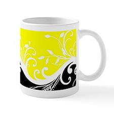 Yellow and black wave Mugs