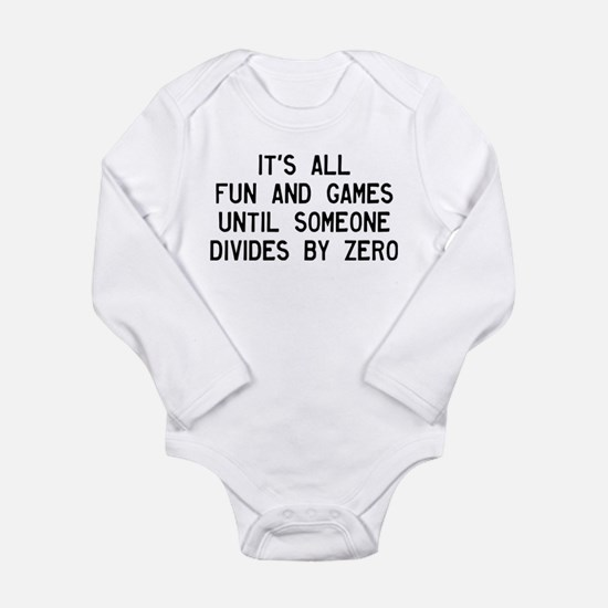 Fun And Games Divide B Long Sleeve Infant Bodysuit