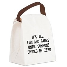 Fun And Games Divide By Zero Canvas Lunch Bag