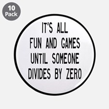 "Fun And Games Divide By Zero 3.5"" Button (10 pack)"