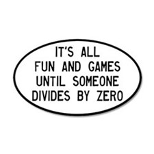 Fun And Games Divide By Zero Wall Decal