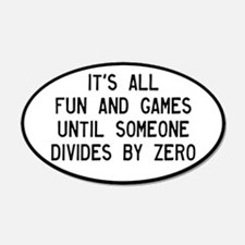 Fun And Games Divide By Zero Wall Sticker